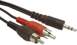 Kabel Gembird MiniJack 3.5mm - RCA (Cinch) x2 15m czarny (CCA45815M)