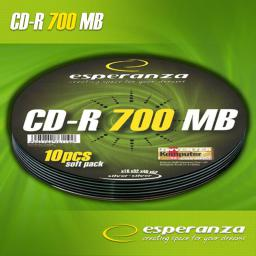 Esperanza CD-R 700MB Soft Pack 10szt. 52x