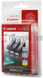 Canon zestaw tuszy CLI-521CMY (cyan, magenta, yellow)