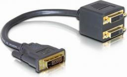 Kabel Delock DVI-D DVI-D x2, 0.2m, Czarny (65051)