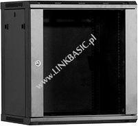 Szafa Linkbasic wisząca rack 12U 450mm czarna (do samodzielnego montażu) (WCB12-645-BAA-C)
