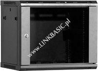 Szafa Linkbasic wisząca rack 9U 450mm czarna (do samodzielnego montażu) (WCB09-645-BAA-C)