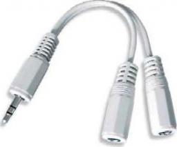 Kabel Gembird Jack 3.5mm - Jack 3.5mm x2 0.1m biały (CCA415W)
