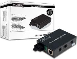 Konwerter światłowodowy Digitus 100BaseTX do 100BaseFX SC DN-82020 (A-DN-82020)