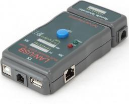 Gembird Tester diodowy kabli RJ4 5,RJ11,UTP,STP,USB AA/AB (NCT-2)