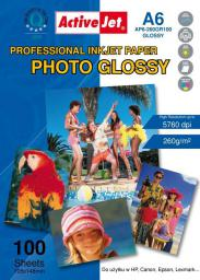 Activejet Photo Glossy A6 (AP6-260GR100) 100 ark
