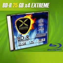 Esperanza BluRay BD-R EXTREME 25GB x4 - Slim case 1 szt.