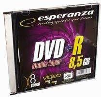 Esperanza DVD+R 8.5GB X8 DOUBLE LAYER SLIM 1SZT