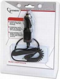 Ładowarka Gembird zasil. z zapalniczki samochodowej/kabel mini USB do GPS