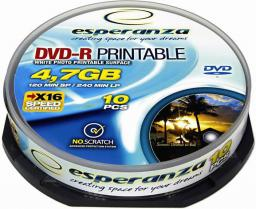 Esperanza DVD-R [ cakebox 10 | 4,7GB | 16x | do nadruku]