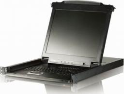 "Konsola KVM Aten CL-1008MA KVM 8 port LCD 17""+klawi+touchpad PS/2 19"" 1U (CL-1008MA)"