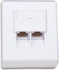 Intellinet Network Solutions gniazdo natynkowe 2xRJ45 UTP kat. 5e kompletne białe (408301)