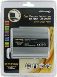 Przetwornica Whitenergy Przetwornica AC/DC 200W 12V/230V z USB
