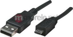 Kabel USB Manhattan USB 2.0 A-Micro B M/M 1,8m czarny (307178)