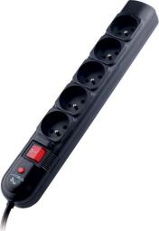 Listwa zasilająca Tracer PowerGuard przeciwprzepięciowa 5 gniazd 3m czarny (TRALIS30407)