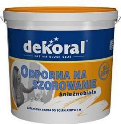 Farba emulsyjna Dekoral Akrylit W biała 3L