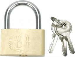 Vorel Kłódka mosiężna 40mm 3 klucze (77400)