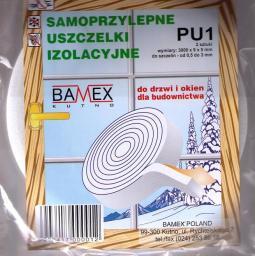 Bamex Uszczelka izolacyjna samoprzylepna z gąbki (PU-1)