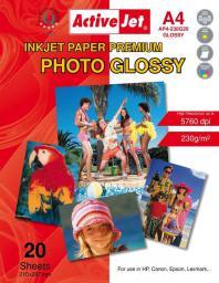 Activejet Papier Foto A4 (AP4-230G20) 20 ark