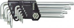 Vorel Zestaw kluczy trzpieniowych torx typ L T10-T50 z otworem 9szt. (56478)