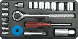 """Vorel Zestaw kluczy nasadowych 1/4"""" 3/8"""" 20szt. (58210)"""
