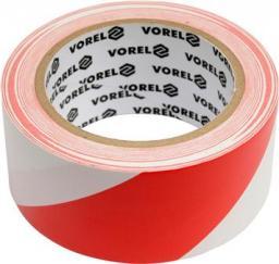 Vorel Taśma ostrzegawcza biało-czerwona 80mm x 100m (75233)