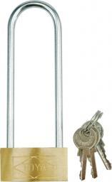 Vorel Kłódka mosiężna z długim uchwytem 40x105mm 3 klucze (77700)