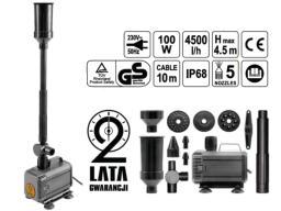 FLO Pompa fontannowa 100W, 4500L/H H=4,5m, 5-końcówek, przłącze 1cal 79933