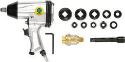 """Vorel Klucz udarowy pneumatyczny 1/2"""" 310Nm z nasadkami 16 części (81101)"""