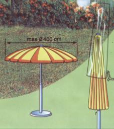 Pokrowiec na parasol ogrodowy 20x58x220cm