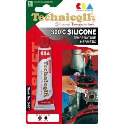 Technicqll Silikon wysokotemperaturowy czerwony 20ml S-037