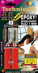 Technicqll Klej epoksydowy bezbarwny 1 min 2x12ml (E-358)