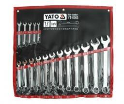 Yato Zestaw kluczy płasko-oczkowych 8-32mm 17szt. (YT-0363)