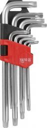 Yato Zestaw kluczy trzpieniowych torx typ L T10-T50 z otworem 9szt. (YT-0511)