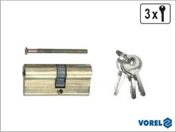 Vorel Wkładka mosiężna 62mm 3 klucze 31/31 (77200)