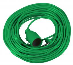 Vorel Przedłużacz choinkowy zielony 1 gniazdo 10m 2x1,0 (72455)