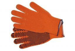 """Vorel Rękawice bawełniane nakrapiane pomarańczowe SDF 10"""" 5 par (74103)"""