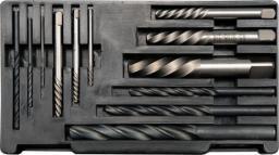 Yato Zestaw wykrętaków do zerwanych śrub + wiertła HSS do metalu 12 części (YT-0591)