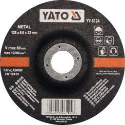 Yato Tarcza do szlifowania metalu wypukła 125x6,0x22mm (YT-6124)