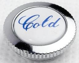 KFA Zaślepka uchwytu Retro Cold niebieska chrom-biały (892-302-08)