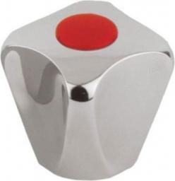 KFA Uchwyt czworokątny z zaślepką czerwoną - metalowe gniazdo wieloklinu (892-015-00)