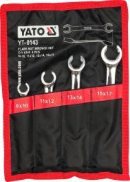 Yato Zestaw kluczy płaskich półotwartych 8-17mm 4szt. (YT-0143)