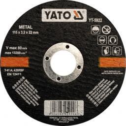 Yato Tarcza do cięcia metalu 125x1,2x22mm (YT-5923)