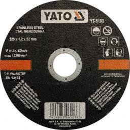 Yato Tarcza do cięcia stali nierdzewnej 125x1,2x22mm (YT-6103)