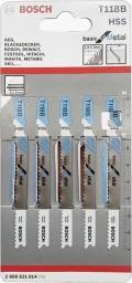 Bosch Brzeszczot do wyrzynarek Basic for Metal 92mm T 118B 5szt. (2.608.631.014)