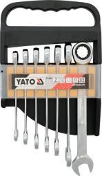 Yato Zestaw kluczy płasko-oczkowych z grzechotką 10-19mm 7szt. (YT-0208)