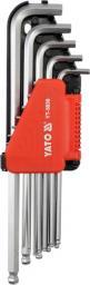 """Yato Zestaw kluczy imbusowych hex typ L 1/16-3/8"""" z kulką 12szt. (YT-5838)"""