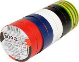 Yato Taśma izolacyjna 12mm x 10m kolor 10 szt. (YT-8156)