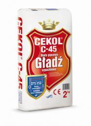Cekol Gładź szpachlowa gipsowa biała CEKOL C-45 2kg