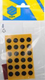 Vorel Podkładki antypoślizgowe okrągłe czarne 10mm 24szt. (74816)